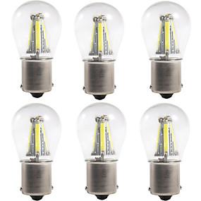 cheap Car Signal Lights-6pcs 1156 / 1157 Car Light Bulbs 4 W COB 300 lm 4 LED Turn Signal Lights / Brake Lights / Reversing (backup) Lights For universal All years