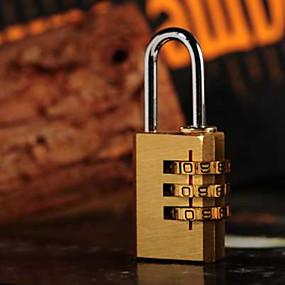 preiswerte Reise & Gepäckzubehör-1 Stück Schloss mit Codierung Koffer Accessoires für Koffer Accessoires Metal - Golden
