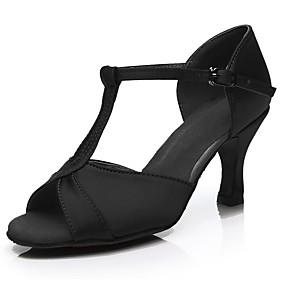 preiswerte Schuhe und Taschen-Damen Tanzschuhe Satin Schuhe für den lateinamerikanischen Tanz Absätze Schlanke High Heel Maßfertigung Silber / Fuchsia / Braun / Leistung / Leder / Praxis