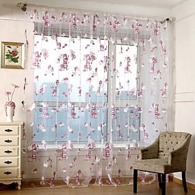 preiswerte Vorhänge und Gardinen-Moderne Durchsichtig Ein Panel Durchsichtig Wohnzimmer   Curtains