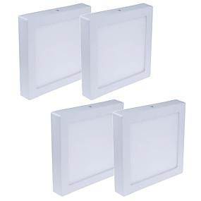 cheap LED Recessed Lights-4pcs 24 W 1920 lm 120 LED Beads Easy Install LED Panel Lights Warm White Cold White 85-265 V