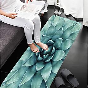 voordelige Matten & Tapijten-1pc Landelijk Badmatten Coral Velve Bloemenprint Badkamer Anti-slip / Makkelijk schoon te maken
