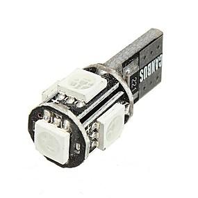preiswerte Kennzeichenbeleuchtung-1pcs T10 / W5W Auto Leuchtbirnen SMD 5050 16~18 lm 5 HID Xenon / LED Kennzeichenbeleuchtung / Blinkleuchte Für Alle Jahre