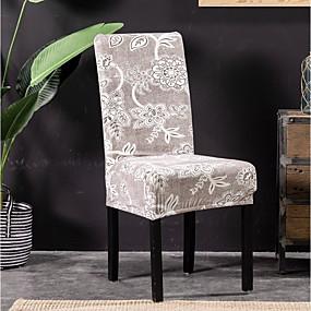 preiswerte Haus & Garten-Stuhlabdeckung Blumen Bedruckt Polyester Überzüge