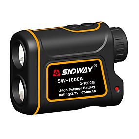 billige Spesialtilbud-sndway sw-600a / 1000a / 1500a teleskop laser avstandsmåler 600m / 1000m / 1500m med hastighetsforskjell målefunksjon med høydeforskjell målefunksjon vanntett støvtett optisk 7 ganger