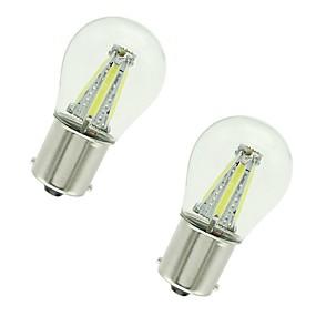 billige Signallys til bil-2pcs 1156 / 1157 Bil Elpærer 4 W COB 300 lm 4 LED Blinklys / Bremselys / Reversering (backup) lys Til Universell Alle år