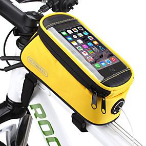 preiswerte ROSWHEEL®-ROSWHEEL Handy-Tasche Fahrradrahmentasche 5.5 Zoll Touchscreen Wasserdicht Radsport für Samsung Galaxy S6 LG G3 Samsung Galaxy S4 Blau / Schwarz Rot Blau Radsport / Fahhrad / iPhone X / iPhone XR