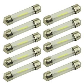 billige Lisensplatelampe-10pcs 41mm / 39mm Bil Elpærer 1 W COB 80 lm 1 LED Lisensplatelampe / Blinklys / interiør Lights Til Universell
