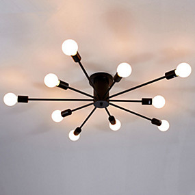 cheap Ceiling Lights-10-Light 122 cm Flush Mount Lights Metal Industrial Electroplated Painted Finishes Contemporary 110-120V 220-240V E26 E27