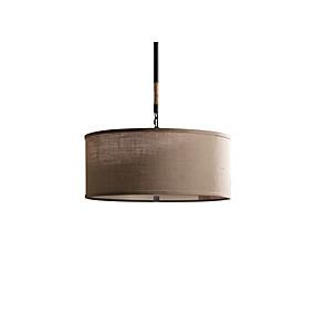 povoljno Viseća rasvjeta-3-Light Cirkularno Privjesak Svjetla Ambient Light Electroplated Metal Fabric svijeća Style 110-120V / 220-240V