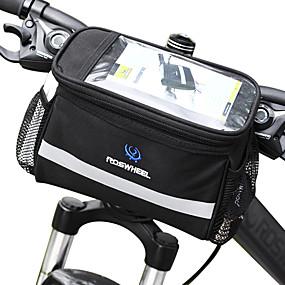 preiswerte Fahrradlenkertaschen-ROSWHEEL 4.5 L Fahrradlenkertasche Feuchtigkeitsundurchlässig tragbar Stoßfest Fahrradtasche PVC 600D Polyester Tasche für das Rad Fahrradtasche Samsung Galaxy S6 / iPhone 4/4S / LG G3 Radsport