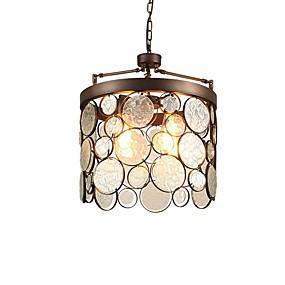 povoljno Viseća rasvjeta-3-Light Cirkularno / Cilindar Privjesak Svjetla Downlight Antique Brass Metal Glass Kreativan, New Design 110-120V / 220-240V