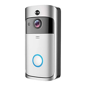 cheap Video Door Phone Systems-HQCAM Smart Wireless Video Doorbell Wifi doorbell Camera Intercom Door Bell Video doorbel Call+Power adapter WIFI No Screen(output by APP) Hands-free One to One video doorphone