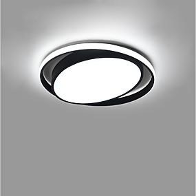 cheap Dimmable Ceiling Lights-1-Light LED® 50 cm Creative Cool Flush Mount Lights Aluminum Circle Geometrical Painted Finishes Artistic Modern 110-120V 220-240V