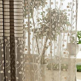 preiswerte Vorhänge und Gardinen-Europäisch Durchsichtig Ein Panel Durchsichtig Wohnzimmer   Curtains