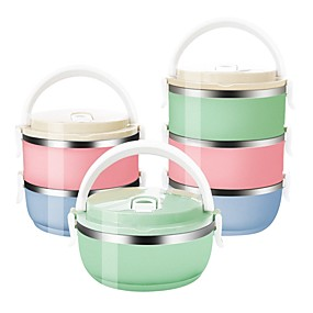 cheap Lunch Boxes & Bags-Gradient Color Japanese Lunch Box Thermal For Food Bento Box Stainless Steel