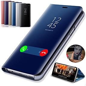 povoljno Maske za mobitele-Θήκη Za Samsung Galaxy S9 / S9 Plus / S8 Plus sa stalkom / Pozlata / Zrcalo Korice Jednobojni Tvrdo PU koža