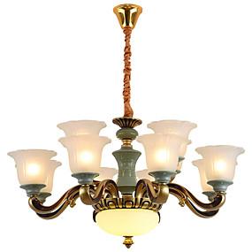 povoljno Lámpatestek-ZHISHU Podignuti Lusteri Downlight Legura cinka Metal Ceramic 110-120V / 220-240V Meleg fehér / Bijela