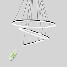 povoljno Viseća rasvjeta-Cirkularno Privjesak Svjetla Downlight Electroplated Metal Acrylic Mini Style, LED 110-120V / 220-240V Meleg fehér / Hladno bijela / Zatamnjen daljinskim upravljačem Uključen je LED izvor svjetlosti