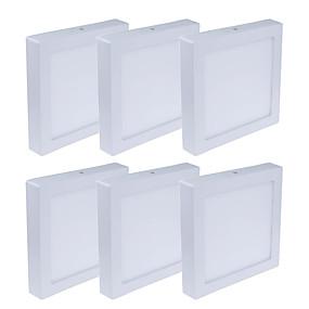 cheap LED Recessed Lights-6pcs 6 W 480 lm 30 LED Beads Easy Install LED Panel Lights Warm White Cold White 85-265 V