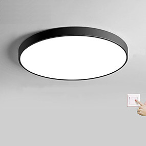 cheap Dimmable Ceiling Lights-1-Light 30 cm Matte / Multi-shade / Creative Flush Mount Lights Plastic Circle / Globe / Bowl Painted Finishes Contemporary / Modern AC110-240V / Dimmable