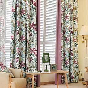 cheap Curtains & Drapes-Contemporary Blackout Two Panels Curtain Living Room   Curtains