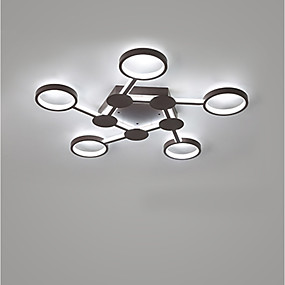 cheap Dimmable Ceiling Lights-1-Light LED® 80 cm Creative Cool Flush Mount Lights Aluminum Circle Sputnik Geometrical Painted Finishes Contemporary Nature Inspired 110-120V 220-240V
