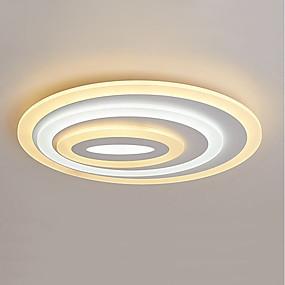 povoljno Lámpatestek-2-Light zdjela / Geometrijski Flush Svjetla Ambient Light Slikano završi Metal Acrylic LED, Trobojni 110-120V / 220-240V