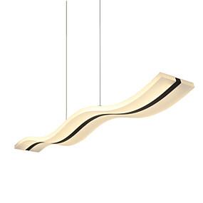 povoljno Viseća rasvjeta-Lightinthebox Linear Privjesak Svjetla Downlight Chrome Acrylic LED 90-240V Meleg fehér / Bijela / Wi-Fi Smart