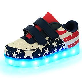 preiswerte Schuhe und Taschen-Jungen Komfort PU Sneakers Kleinkind (9m-4ys) / Kleine Kinder (4-7 Jahre) / Große Kinder (ab 7 Jahren) Schnürsenkel Blau Frühling / Gummi
