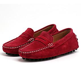 preiswerte Schuhe und Taschen-Jungen / Mädchen Komfort Wildleder Loafers & Slip-Ons Kleine Kinder (4-7 Jahre) / Große Kinder (ab 7 Jahren) Schwarz / Rot Frühling / Gummi