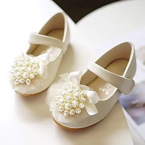 cheap Shoes & Bags-Girls' Comfort / Flower Girl Shoes / Children's Day Microfiber Flats Toddler(9m-4ys) / Little Kids(4-7ys) Pearl / Flower Ivory / Light Pink Spring / Fall / Party & Evening / Rubber