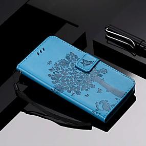 billige Telefoner og tilbehør-Etui Til Xiaomi Xiaomi Redmi 6 Pro / Xiaomi Mi Play / Xiaomi Redmi Note 7 Lommebok / Kortholder / med stativ Heldekkende etui Katt / Tre Hard PU Leather