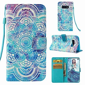 billige Telefoner og tilbehør-Etui Til Samsung Galaxy S9 / S9 Plus / S8 Plus Lommebok / Kortholder / Flipp Heldekkende etui Mandala Hard PU Leather