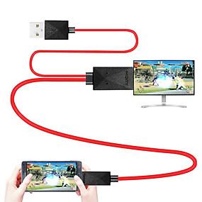 preiswerte Computer & Büro-mhl kabel micro usb 2.0 zu hdmi 1.4 adapterkabel stecker - stecker 1.8m