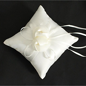 povoljno Darovi i pokloni za zabave-Tkanina Demin Cvijet Pamuk / Posteljina ring pillow Vjenčanje / Cvijet Sva doba