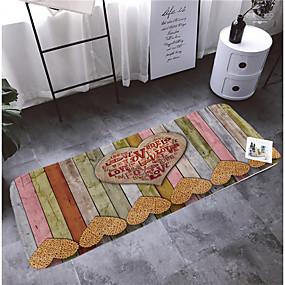 levne Podložky a koberečky-1ks Moderní Koupelnové podložky Coral Velve S proužky 5mm Koupelnové Neskluzový / Nový design / Snadno se čistí