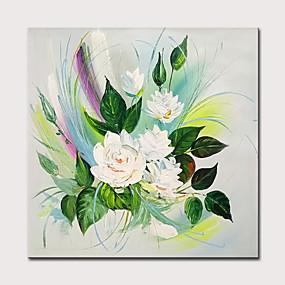 povoljno Slike za cvjetnim/biljnim motivima-Hang oslikana uljanim bojama Ručno oslikana - Odmor Cvjetni / Botanički Klasik Moderna Uključi Unutarnji okvir