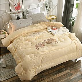 preiswerte Textilien für Zuhause-Gemütlich - 1 Stck Steppdecke Winter Polyester Solide