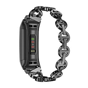 cheap Smartwatch Bands-Watch Band for Fitbit Charge 3 Fitbit Sport Band / Jewelry Design Stainless Steel Wrist Strap