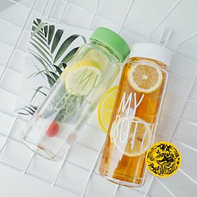 preiswerte Trinken & Filtern-Wasserflasche 500 ml PP Tragbar für Outdoor Übungen Reisen 1 pcs Schwarz Gelb Blau Rosa