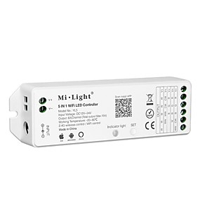 preiswerte Haus & Garten-kwb 1 stücke 5in1 2,4 ghz 15a wireless wifi led controller dc12-24v 6a kanal led controller wifi fernbedienung kompatibel mit amazon alexa und google assistent