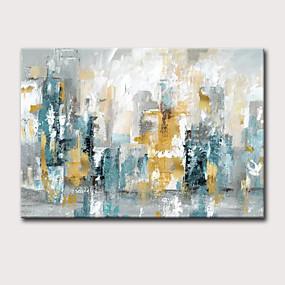 voordelige Schilderijen van landschappen-Hang-geschilderd olieverfschilderij Handgeschilderde - Abstract Landschap Klassiek Modern Zonder Inner Frame