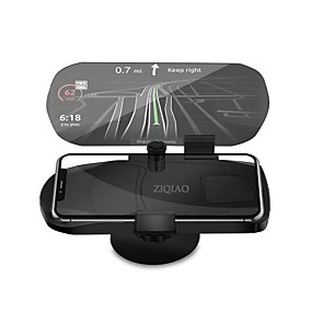 cheap Head Up Display-ZIQIAO Universal Mobile Phone Car Holder Projector HUD Head Up Display 7 Inch for Smart Mobile Phone