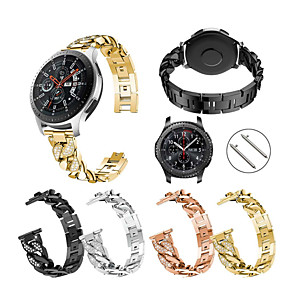 cheap Smartwatch Bands-Watch Band for Gear S3 Frontier / Gear S3 Classic / Samsung Galaxy Watch 46 Samsung Galaxy Sport Band Stainless Steel Wrist Strap