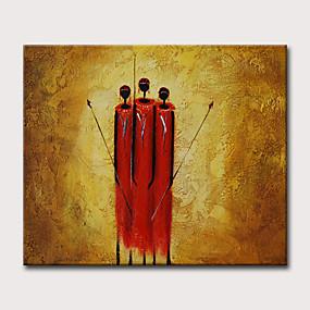 abordables Cuadros Abstractos-Pintura al óleo pintada a colgar Pintada a mano - Abstracto Religioso Tradicional Modern Sin marco interior