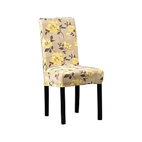 preiswerte Schonbezüge-Stuhlabdeckung Blumen Bedruckt Polyester Überzüge