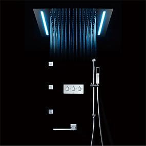 preiswerte Renovierung-Duscharmaturen - Moderne Chrom Wandmontage Keramisches Ventil Bath Shower Mixer Taps
