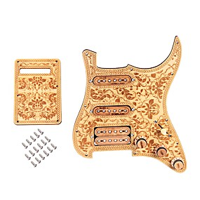 cheap Instrument Accessories-Guitar Accessory Guitar Pickguard Wood Electric Guitar SSH05 for Acoustic and Electric Guitars Musical Instrument Accessories 28.3*22.5*2.3 cm