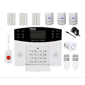 cheap Burglar Alarm Systems-Wireless Alarm System Home Burglar Alarm Host infrared Alarm Home alarm PIR door and window sound and light alarm